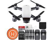 DJI Spark Portable Mini Drone Quadcopter Landing Pad Essential Bundle (Alpine White)