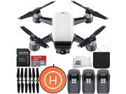DJI Spark Portable Mini Drone Quadcopter Landing Pad Ultimate Bundle (Alpine White)