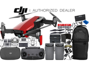 DJI Mavic Air Drone Quadcopter (Flame Red) 2-Battery 2x 64 GB Memory Ultimate Bundle