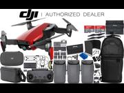 DJI Mavic Air Drone Quadcopter (Flame Red) 3-Battery 2x 64 GB Memory Ultimate Bundle