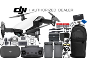 DJI Mavic Air Drone Quadcopter (Arctic White) 2-Battery 2x 64 GB Memory Ultimate Bundle