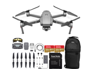 DJI Mavic 2 Zoom Drone Quadcopter with 24-48mm Optical Zoom Camera and 2X SanDisk Extreme 64GB MicroSDXC UHS-I Card (1x Battery)