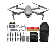 DJI Mavic 2 Zoom Drone Quadcopter with 24-48mm Optical Zoom Camera and 2X SanDisk Extreme 64GB MicroSDXC UHS-I Card (2X Battery)