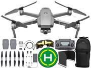 DJI Mavic 2 Zoom Drone Quadcopter with 24-48mm Optical Zoom Camera with Sling Backpack, Range Extender, Landing Pad, and Sunshade Essentials Bundle