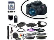 Canon EOS Rebel 650D / T4i Digital SLR Camera With 18-55mm Lens & Ultimate Accessory Bundle
