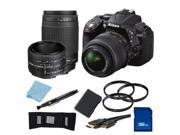 Nikon D5300 Digital SLR Camera With 18-55mm Lens & 70-300mm G Lens & 50mm 1.8D Kit 1