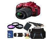 Nikon D5300 Digital SLR Camera With 18-55mm Lens Kit 1 (Red)