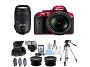 Nikon D5300 Digital SLR Camera Red With 18-140mm Lens & 55-300mm VR Lens Kit 1