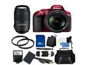 Nikon D5300 Digital SLR Camera Red With 18-140mm Lens & 55-300mm VR Lens Kit 2