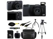 Ricoh GR 175743 Black 16.2MP Digital Camera With Photo-4-Now Exclusive Starter Bundle