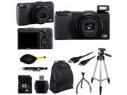 Ricoh GR 175743 Black 16.2MP Digital Camera With Photo-4-Now Essential Bundle