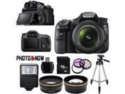 Sony Alpha SLT-A58 Digital SLR Camera with DT 18-55mm f/3.5-5.6 SAM II Lens Essential Bundle
