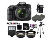 Sony Alpha SLT-A58 Digital SLR Camera with DT 18-55mm f/3.5-5.6 SAM II Lens Professional Bundle
