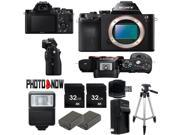 Sony Alpha a7R 36.4MP Mirrorless Digital Camera ILCE7R/B (Body, Bliack) Starter Bundle