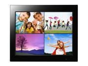 "Wintec Joy Series 15"" Digital Photo Frame with remote Control. plays Movies and Music, Alarm, Calendar, Split Screen and Multi View. Model: 3FMPF215BK15-R (Black)"