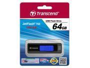 Transcend 64GB JetFlash 760 Super Speed USB 3.0 Flash Drive Black Model TS64GJF760
