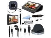 ISOUND Advanced Pack 10 Essential Items for Kindle Fire - Black/Grey Model ISOUND-3401