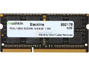Mushkin Enhanced 8GB Blackline DDR3 PC3L-12800 1600MHz 204-Pin Laptop Memory Model 992178