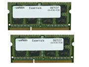 Mushkin Enhanced 8GB (2 x 4GB) Essentials DDR3 PC3L-12800 1600MHz 204-Pin Laptop Memory Model 997037