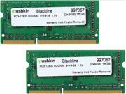 Mushkin Enhanced 16GB (2 x 8GB) Blackline DDR3 PC3-12800 1600MHz 204-Pin Laptop Memory Model 997067