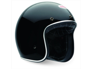Bell Custom 500 Gloss Black Open-Face Motorcycle Helmet Size Small