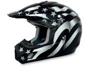 AFX Motorcycle FX-17 Flag Stealth Helmet Size X-Small 9SIAAHB4WD8668
