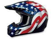 AFX Motorcycle FX-17 Flag Helmet Black Size Small 9SIAAHB4WD4854