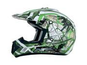 AFX Motorcycle FX-17Y Trap Helmet Green Size Small 9SIA1452T16433