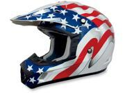 AFX Motorcycle FX-17 Flag Helmet White Size XX-Large 9SIAAHB4Z72945