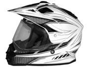Cyber Helmets UX-32 Graphics Motorcycle Helmet White/Black Small 9SIAAHB4WC4936