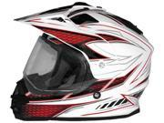 Cyber Helmets UX-32 Graphics Motorcycle Helmet White/Red Small 9SIAAHB4WC4987