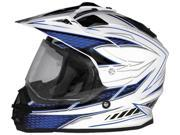 Cyber Helmets UX-32 Graphics Motorcycle Helmet White/Blue Small 9SIAAHB4WC9830