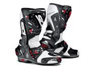 SIDI Vortice Air Racing Motorcycle Boots White Black Size EU 47 US 12-12.5