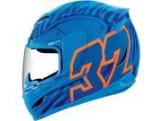 Icon Side Plate Kit for Airmada Bostrom Motorcycle Helmets - Blue 9SIA1453RD5053