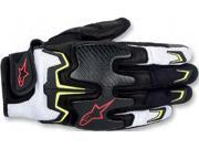 Alpinestars Fighter Air Gloves Black/White/Yellow/Red Medium 9SIA1452W92052