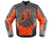 Icon Overlord 2 Motorcycle Jacket Orange X-Large
