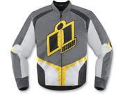 Icon Overlord 2 Motorcycle Jacket Yellow Medium 9SIA1453PM1769