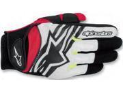 Alpinestars Spartan Gloves Black/White/Yellow/Red XXX-Large 9SIA1452W93765