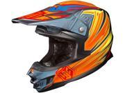 HJC FG-X Off Road Helmet Legendary Lucha Orange Yellow Blue Size Small 9SIAF2V6YR5849