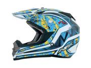 AFX FX-19 Graphics Motorcycle Helmet Blue/Yellow Vibe Large 0110-3275 9SIAAHB50B8287