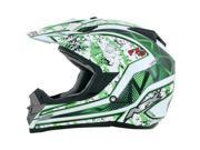 AFX FX-19 Graphics Motorcycle Helmet Green Vibe X-Small 0110-3290 9SIAAHB50B8288