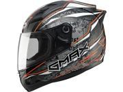G-Max GM69 Mayhem Motorcycle Helmet Mayhem Black/Silver/Hi-Viz Orange Large 9SIA1453RD4894