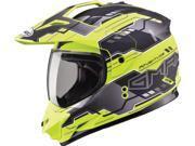 G-Max GM11D Dual Sport Adventure Motorcycle Helmet Flat Black/Hi-Vis Small 9SIAAHB43G8274