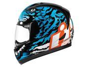 Icon Alliance Berserker Motorcycle Helmet Blue Small