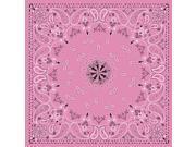 Zan Headgear Bandanna Pink Paisley OSFM B015