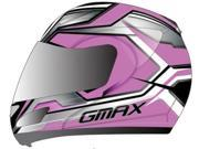 G-Max GM44S Glacier Modular Motorcycle Helmet Pink/Silver/White Small 9SIA1453RD5347