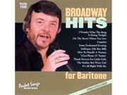 Pocket Songs Karaoke CDG #1345 - Broadway Hits for Baritone