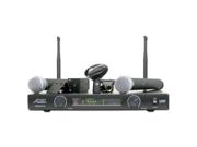 Audio 2000's AWM6012U Dual UHF Wireless Microphone System