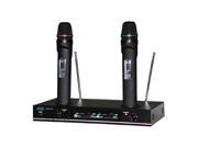 Audio 2000's AWM6112 Plug-In-N-Recharge VHF Dual Channel Wireless Microphone System