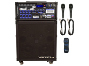 Vocopro Champion-REC Basic 200W 4-Channel Multi-Format Portable P.A. System with Digital Recorder